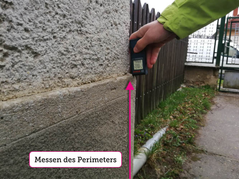 Messen des Perimeters